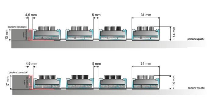 aluminiowa wycieraczka systemowa szczotkowa