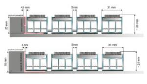 Wycieraczki systemowe Typ F1 szkic